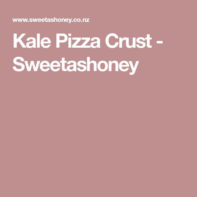Kale Pizza Crust - Sweetashoney