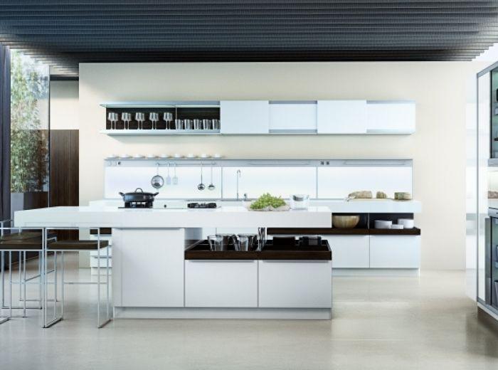 Modo van poggenpohl een open blik in de keuken met een tal van italienische kücheweiße