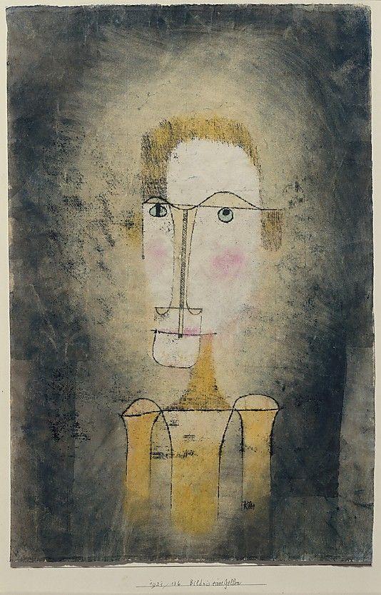 Retrato de un hombre amarillo  Paul Klee (alemán (nacido en Suiza)…
