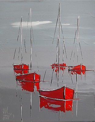 """Résultat de recherche d'images pour """"peindre une marine au couteau et à l'huile"""""""
