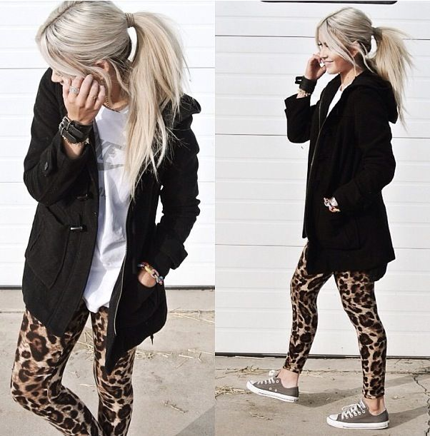 Printed leggings! Cara Loren style blog.