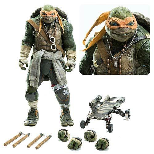 Teenage Mutant Ninja Turtles Movie Michelangelo Figure - Threezero - Teenage Mutant Ninja Turtles - Action Figures at Entertainment Earth