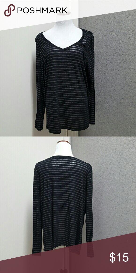 Spotted while shopping on Poshmark: Lane Bryant Black and Silver Tee! #poshmark #fashion #shopping #style #Lane Bryant #Tops