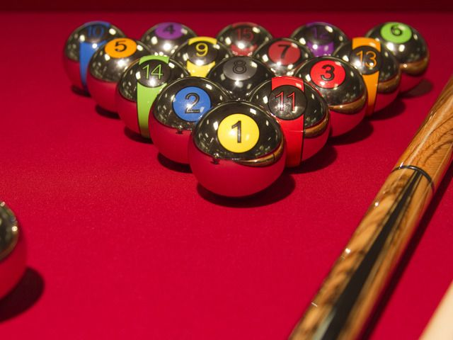 Pool Table Balls Scattered