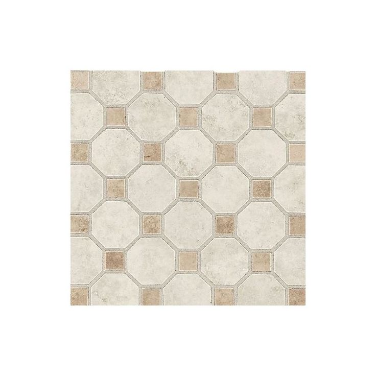 "Daltile SL84-2OCT82PMS1P2 Salerno Grigio Perla 2"" x 2"" Octagon Dot Ceramic Multi Grigio Perla Tile Multi-Surface Tile"