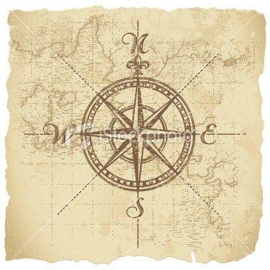 Kompass Rose, Himmelsrichtungen.