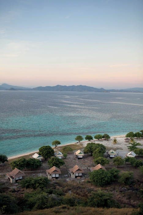 Kanawa Island Resort, a resort on a small island of only 28 hectares in the Flores Sea.