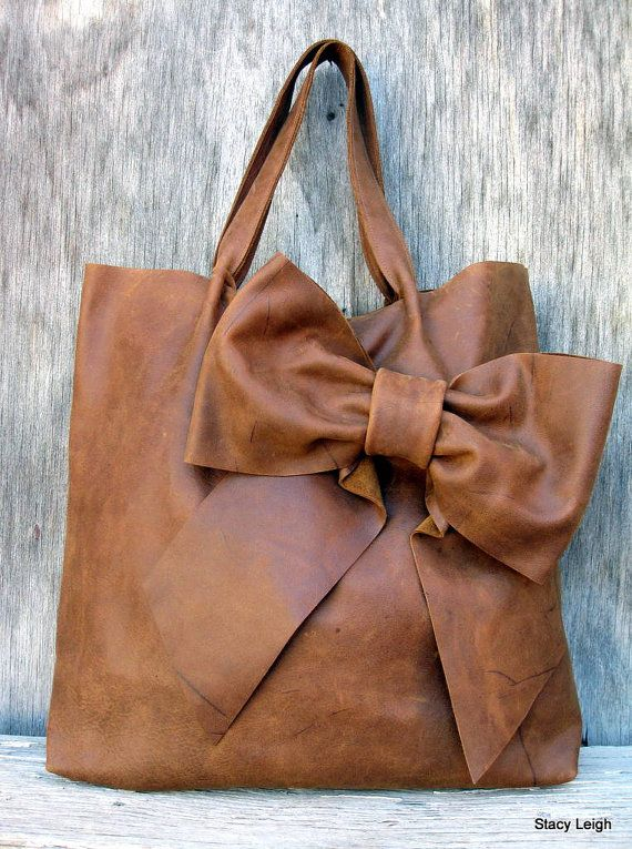 Luxe leather, tied up in a bow.