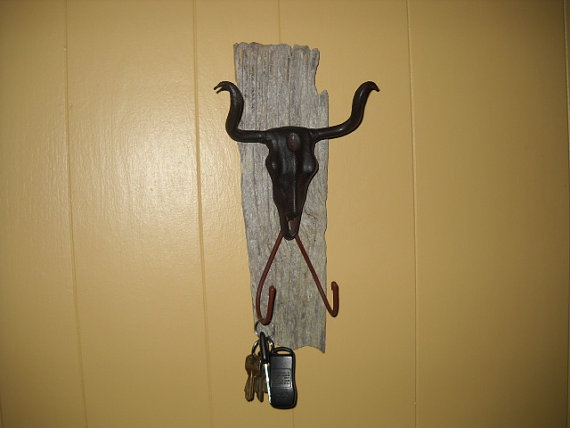 Texas Longhorn accessory hanger by PhillipBishop on Etsy, $35.00