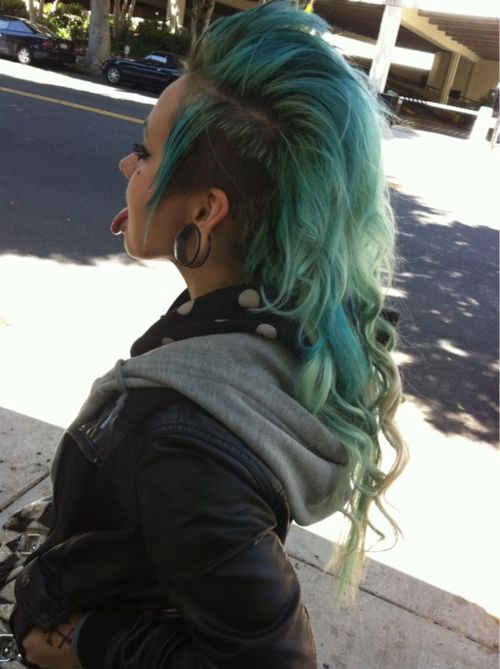 25 Best Ideas About Long Hair Mohawk On Pinterest