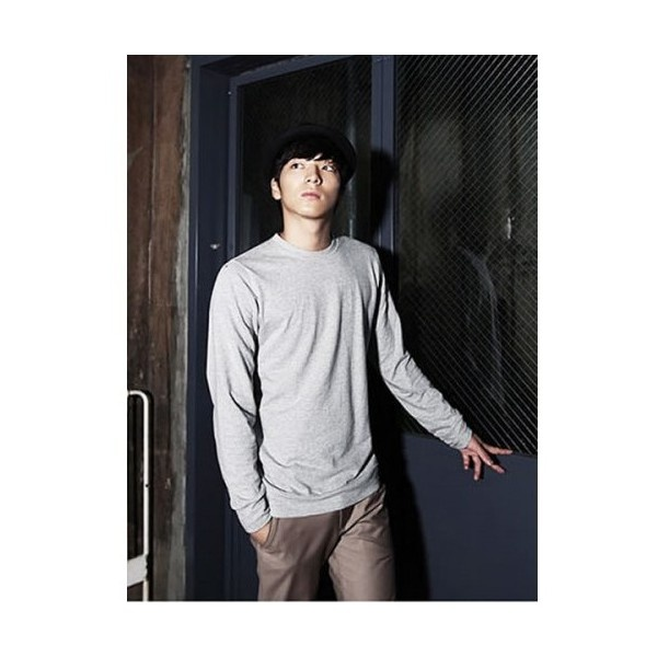 Buy Men Cotton Light Grey Round Neck Long Sleeves Casual Tops... via Polyvore