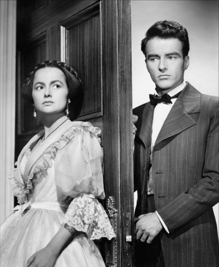 Olivia de Havilland and Montgomery Clift in The Heiress (1949).  Very good film.
