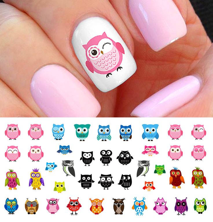 32 best Owl Nail Art Decals images on Pinterest | Owl nail art, Owl ...