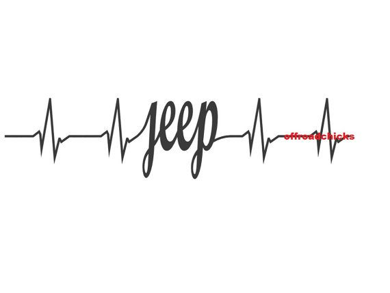 heartbeat decal by OffroadChicks on Etsy