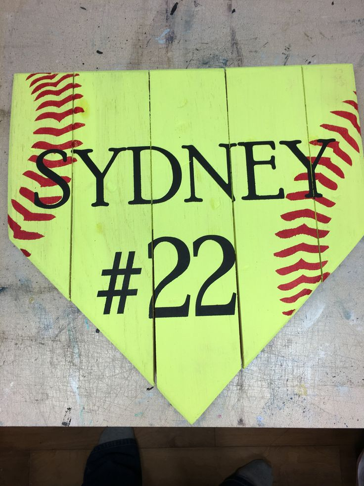 CHOICE OF YELLOW PLATE (SOFTBALL) WHITE PLATE (BASEBALL) **Colors can be changed to your preference. Each piece is unique made on up-cycled pallet wood or barn wood. Products are made to have a vintag