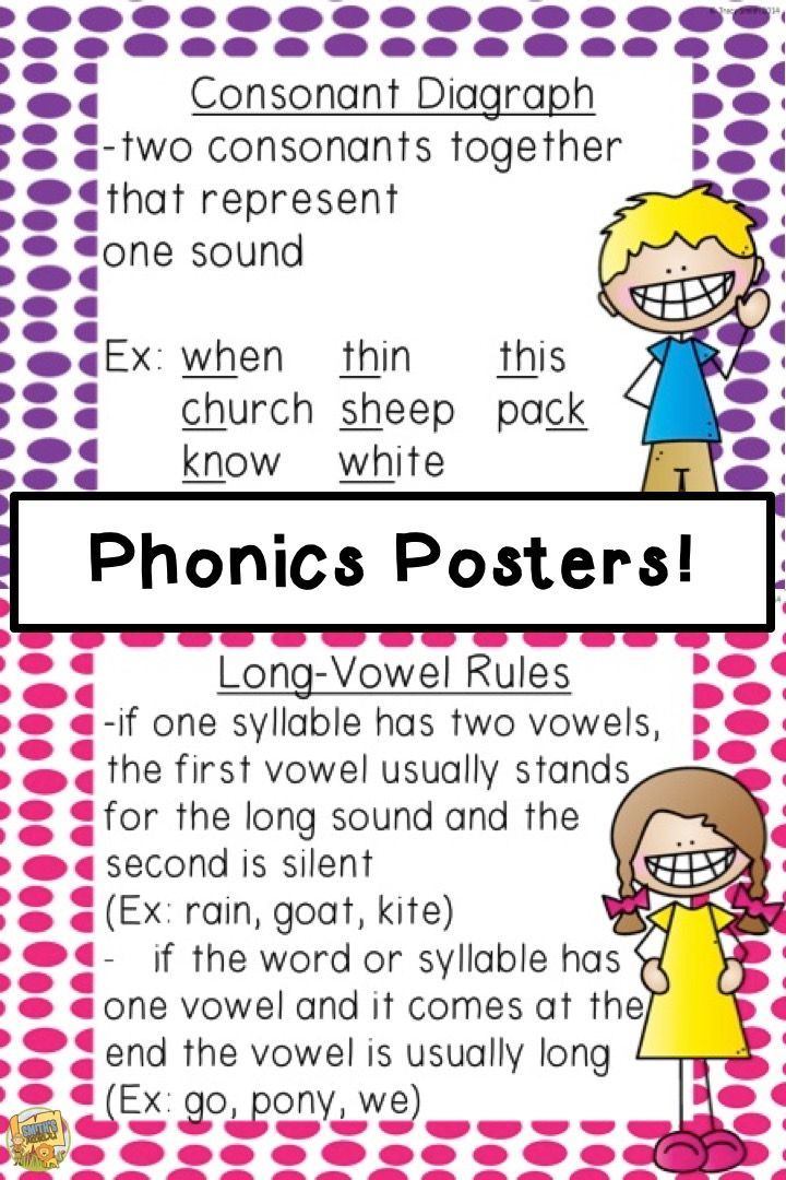 This is a picture of Simplicity Printable Phonics Rules Charts