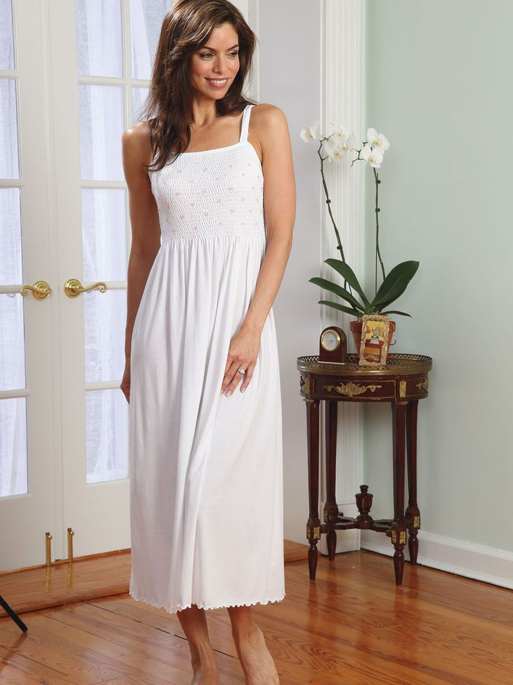 Nicola - Luxury Nightwear - For moments never to be forgotten, this enchanting gown of softest pima cotton jersey is what memories are made of.  #nightwear #gown #schweitzerlinen