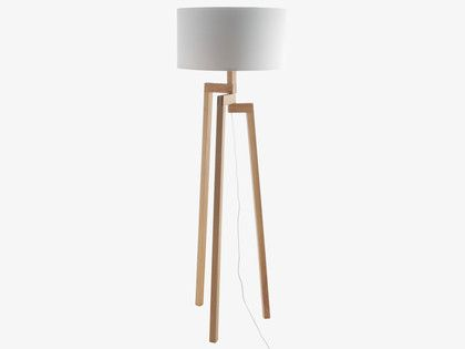 DYLAN Ash wooden floor lamp base
