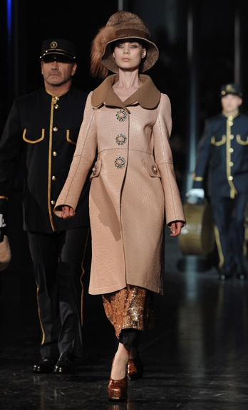 Louis Vuitton's Orient Express inspired Autumn Collection for 2012 designed by Marc Jacobs.