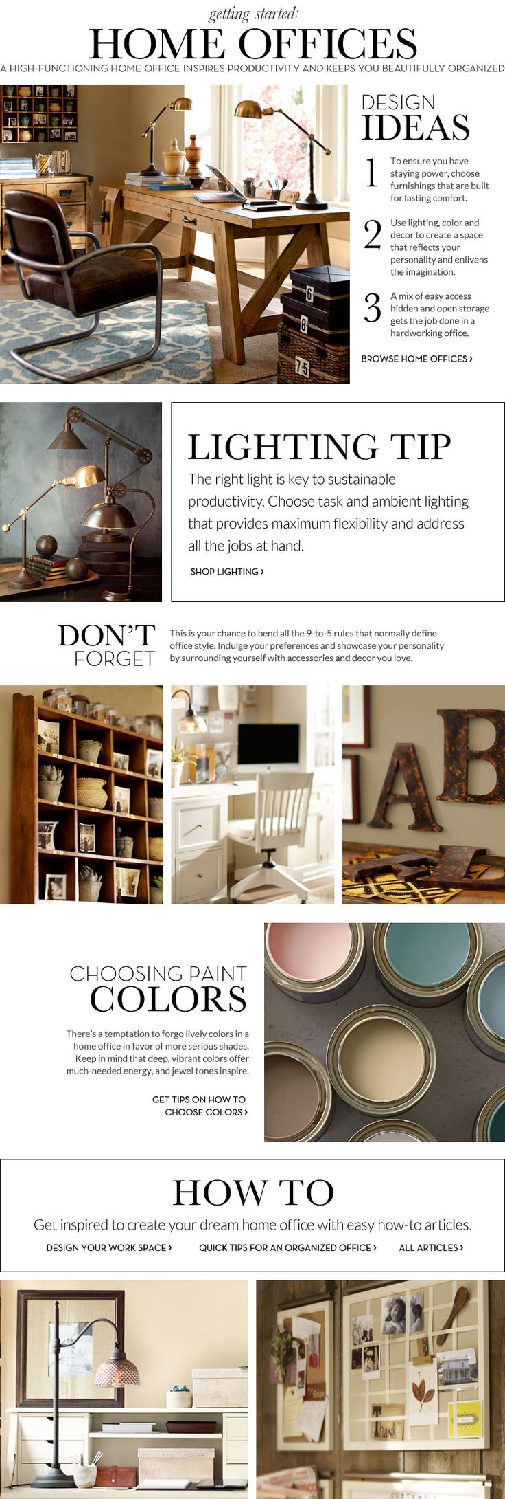 Home Office Decorating Ideas & Decorating Home Office   Pottery Barn