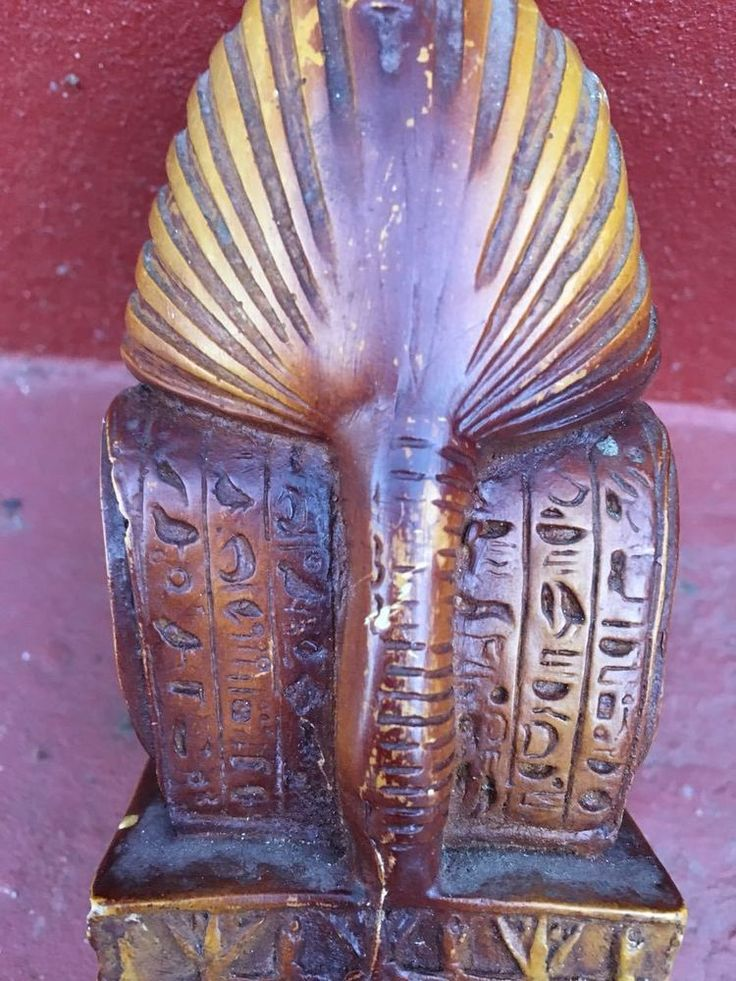 Egyptian Pharaoh Tutankhamen Head Statue very old Rare Antique Egypt