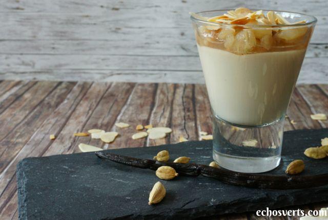 Crème cajou-cardamome et compotée de poire #VGL