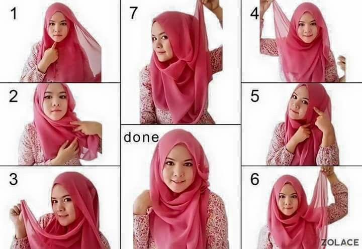 Cara Menggunakan Hijab Segiempat Terbaru