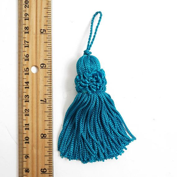 3 Rayon chainette tassels Fringe tassels Hanging