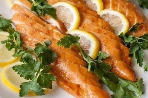Аппетитные куриные грудки в медово-лимонном соусе