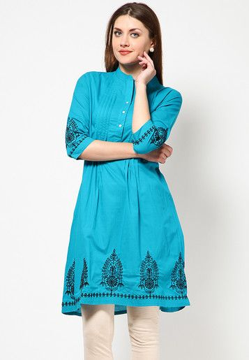 Blue Cotton Kurti Online Shopping - Alma | AL898WA46HGBINDFAS