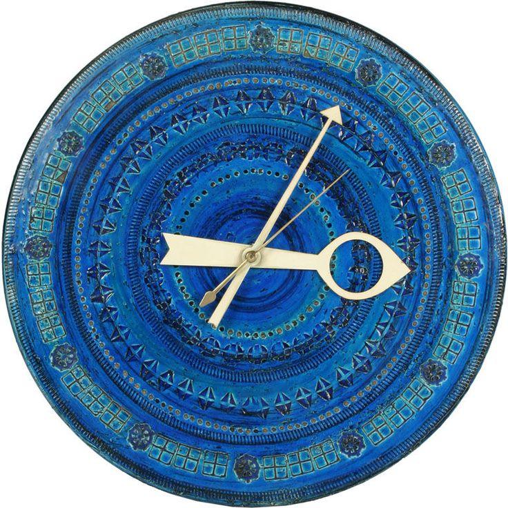 Azure Ceramic 'Meridian' Clock for Raymor / Italy, 1950s