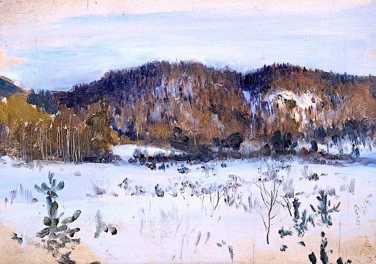 Eero Järnefelt (Finnish, 1863-1937) - Winter Landscape