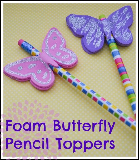 Cutting Foam with your Silhouette Cameo - Foam Butterfly Pencil Toppers