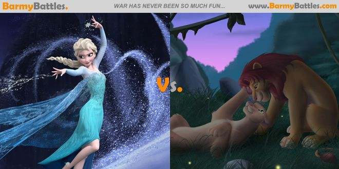 """""""Let it go"""" Vs """"Can you feel the love tonight"""" What is your favourite among this two disney song? CLICK HERE TO VOTE: http://www.barmybattles.com/2014/03/17/let-it-go-vs-can-you-feel-the-love-tonight/"""