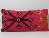 pink lumbar pillow pink throw pillow pink pillow cover pink pillow case pink cushion cover fuchsia pillow cover pink kilim pillow sham 17110