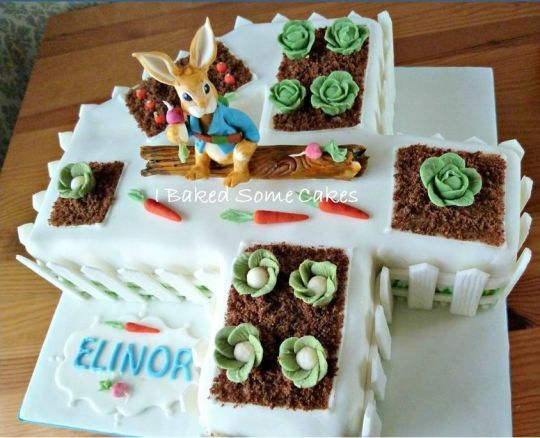 Peter Rabbit number 4 cake