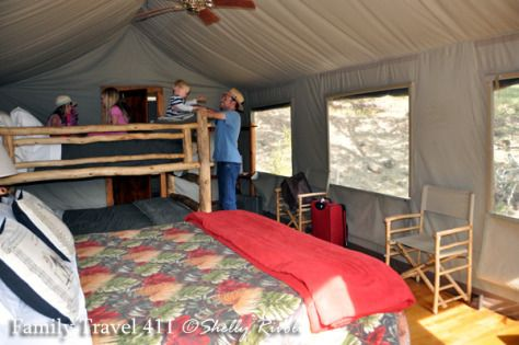 One Night in the African Tent Camp: My Review of Safari West. Plenty of room and beds to sleep six in our Deluxe Hillside Family Tent at Safari West Wildlife Preserve. from @Shelly Rivoli