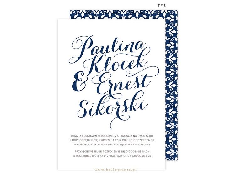 Zaproszenia Ślubne Paulina - Hello! Prints