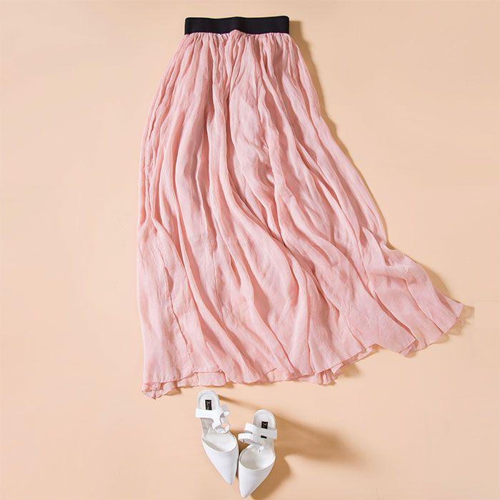 Купить Шелковые юбки женщин шифон плиссированные длинная юбка из натурального шелка длинная юбка розовый черный 2016 весенняя распродажаи другие товары категории Юбкив магазине Suya Dream(SD)наAliExpress. весной воблер и юбки до колен юбки одежды