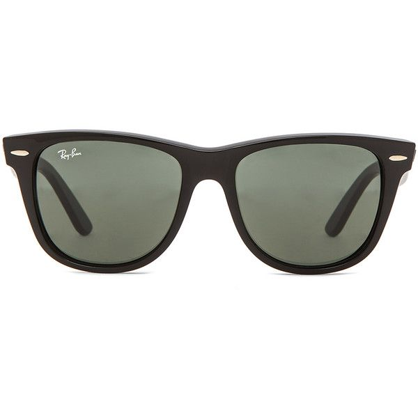 Ray-Ban Wayfarer Sunglasses found on Polyvore featuring accessories, eyewear, sunglasses, glasses, black, okulary, wayfarer glasses, ray ban glasses, wayfarer style sunglasses and wayfare
