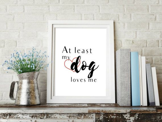 Printable Dog Lovers Wall Art  Fido got your back this V-Day? Celebrate the real Romeo in your life with this simple and funny printable wall art design. It will look perfect in the home or office of any dog lover in your life!  No shipping, no wait! Buy and receive the downloads immediately. No more shipping fees or checking the mail for your package to arrive.  Its simple: once payment is cleared, Etsy will notify you that your downloads are available. ** Purchase includes four (4)…