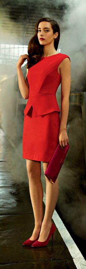 Ted Baker London.  (KO) RED. Always with the red. I love RED. I need to be medicated. Can't stand it. Gimme, gimme!