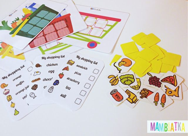 Mambiatka | English for kids | Resources for teachers and parents: My shopping list
