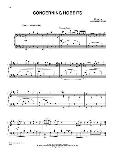 herr ringe noten shore coates lord rings easy piano