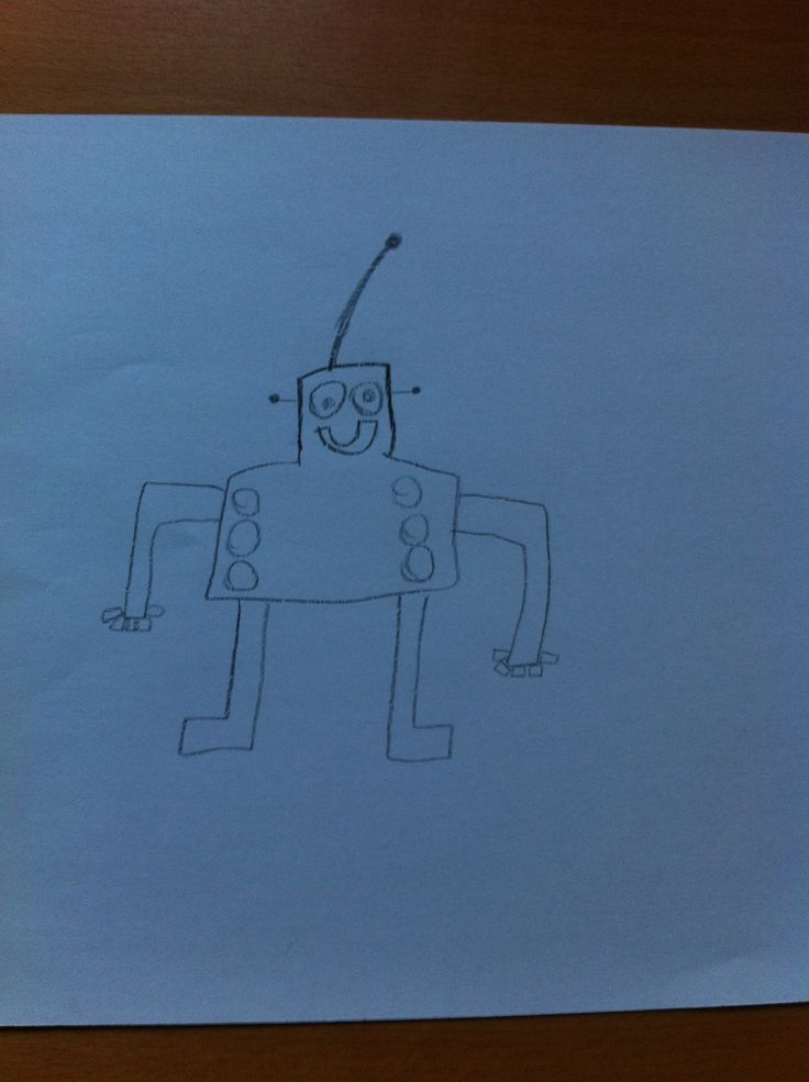My 5 year old drawing a Robot