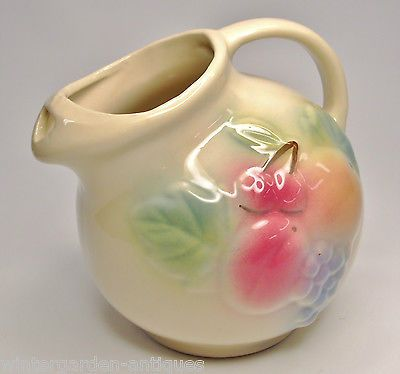 Antique Vintage Shawnee 80 Fruit Decorated Ball Pitcher Dinnerware Art Pottery