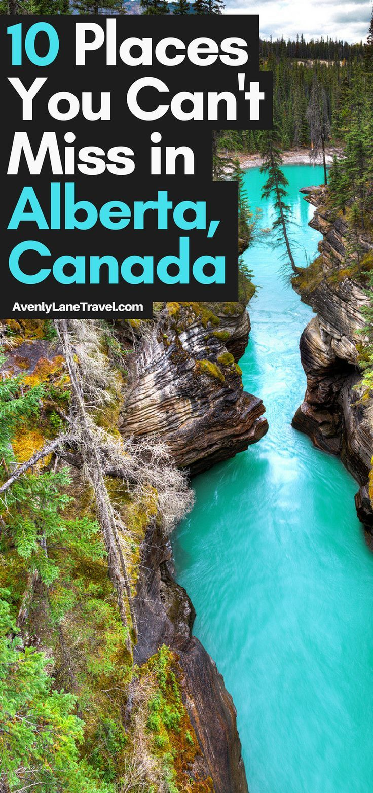 Top 10 Amazing Things To See And Do In Alberta, Canada! Including the Columbia Icefields | Banff National Park | Johnston Canyon Hike | Lake Abraham | Lake Louise | Peyto Lake and so much more! See more on AvenlyLaneTravel.com