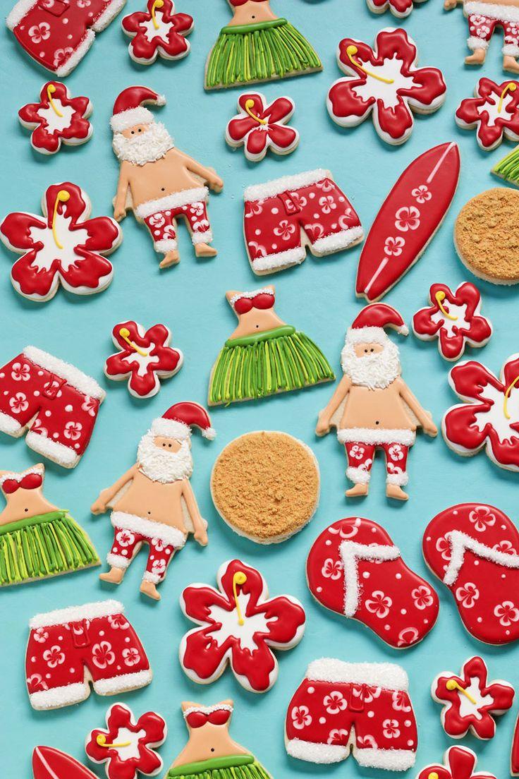How to Make Mele Kalikimaka Cookies with a Video Tutorial via www.thebearfootbaker.com
