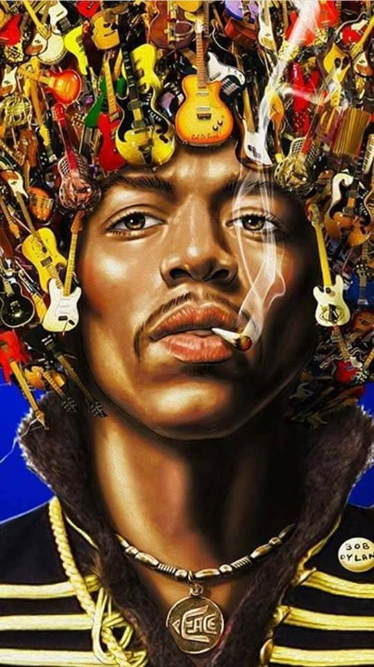 Jimi Hendrix Art.  Awesome!!