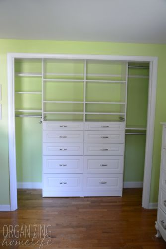 Organizing a Shared Kids' Room Closet ~ EasyClosets Makeover ~ the Reveal - Organizing Home Life